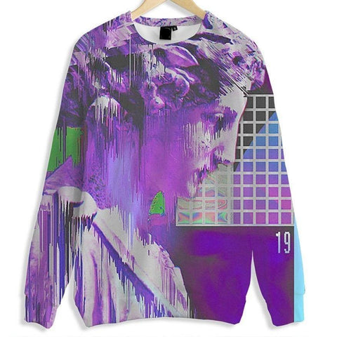 """Deletion"" All Over Print Crewneck"