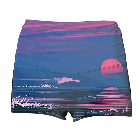 """Bloodset"" Yoga Shorts"
