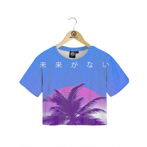 Digital Palm Crop tee