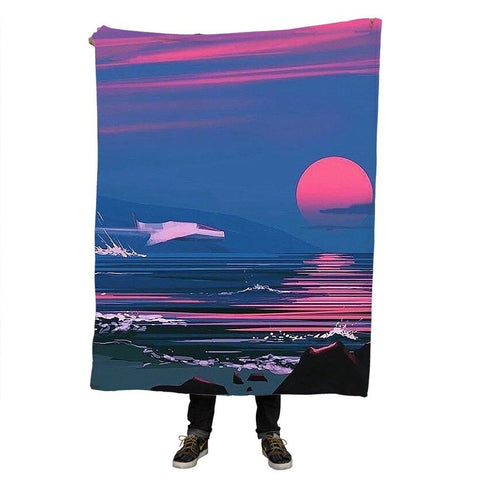 Blood Sunset Throw Blanket