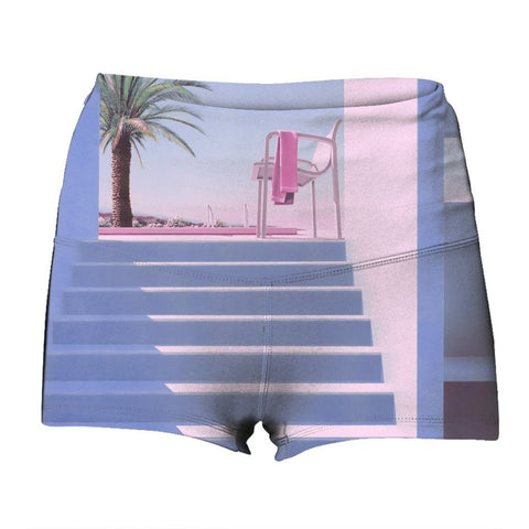 """Poolside"" Yoga Shorts"