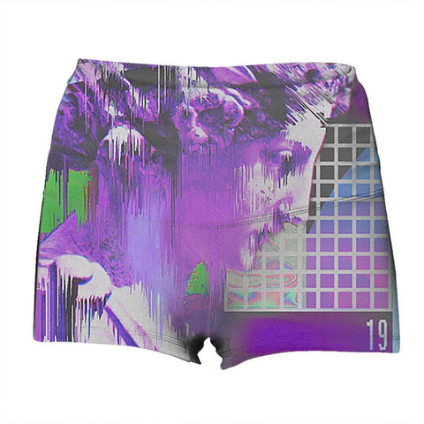 """Deletion"" Yoga Shorts"