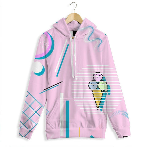 Jazz Cream All Over Print Hoodie