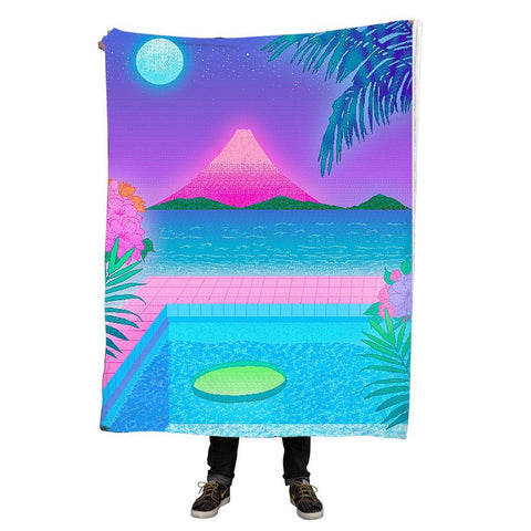 Pastel Sunset Throw Blanket