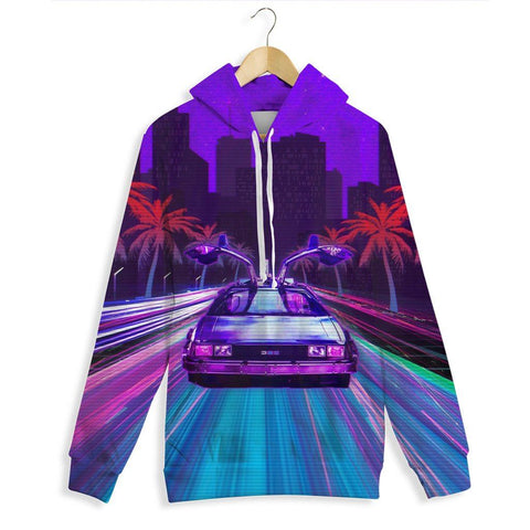 Delorean Rush All Over Print Hoodie