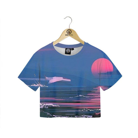 Blood Sunset Crop Tee