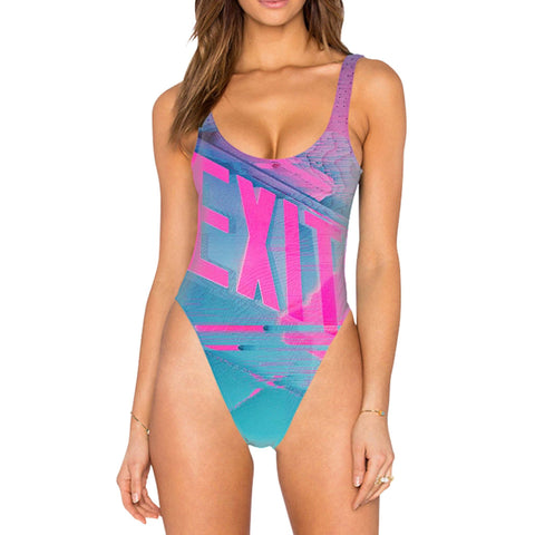 """Aesthexit"" High Legged Swimsuit"
