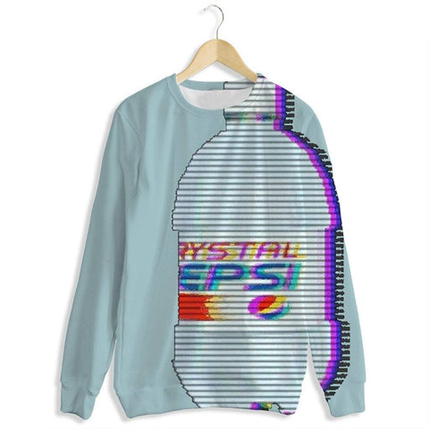 Digital Crystal All Over Print Crewneck