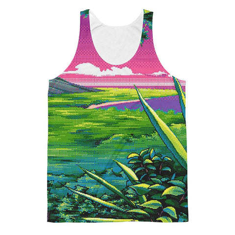 """8-Bit Views"" Unisex Classic Fit Tank Top"