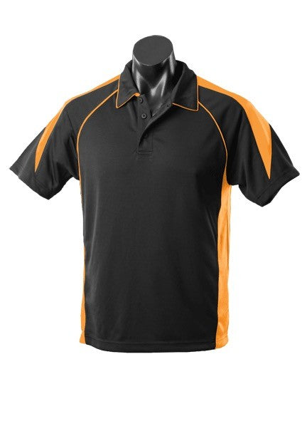 MENS PREMIER POLO STYLE 1301- Black/Gold