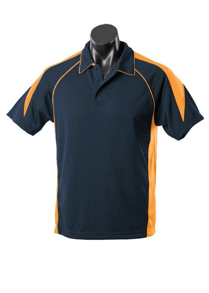 MENS PREMIER POLO STYLE 1301- Navy/Gold