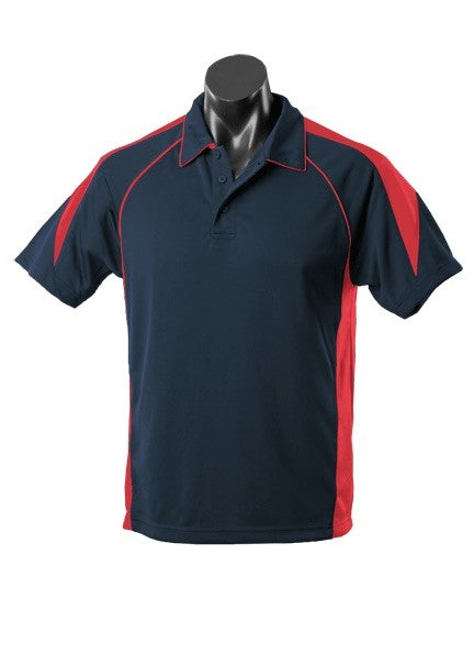 MENS PREMIER POLO STYLE 1301- Navy/Red