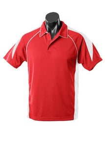MENS PREMIER POLO STYLE 1301- Red/White