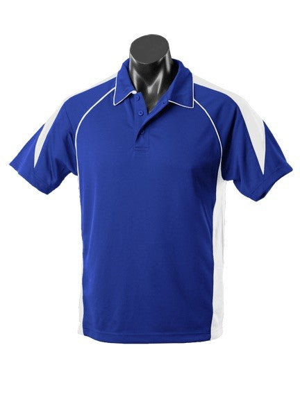 MENS PREMIER POLO STYLE 1301- Royal/White