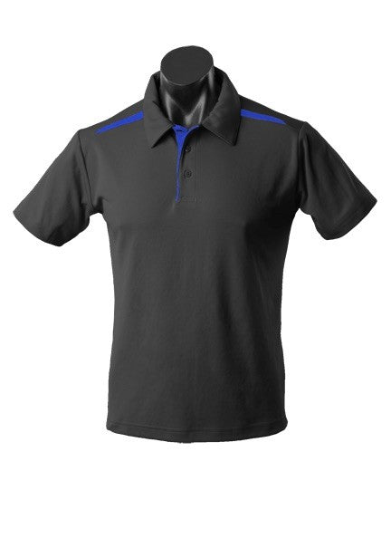 MENS PATERSON POLO STYLE 1305- Black/Royal