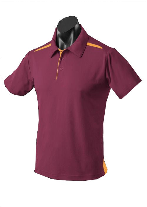 MENS PATERSON POLO STYLE 1305- Maroon/Gold