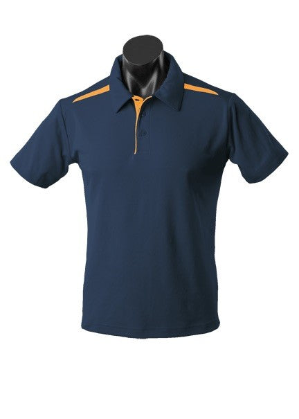 MENS PATERSON POLO STYLE 1305- Navy/Gold