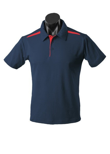 MENS PATERSON POLO STYLE 1305- Navy/Red