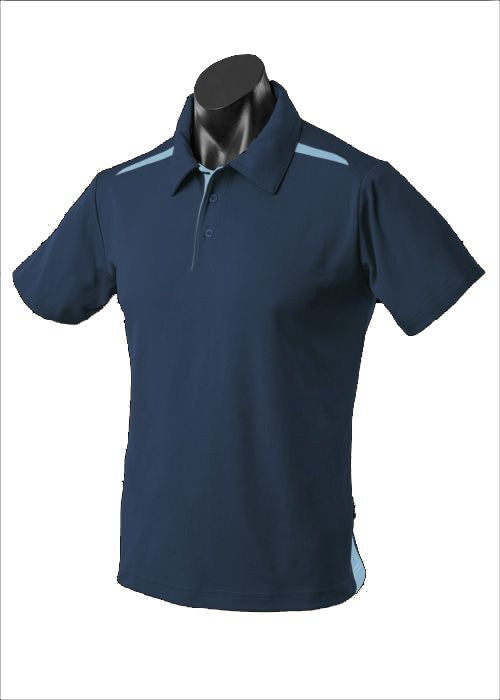 MENS PATERSON POLO STYLE 1305- Navy/Sky