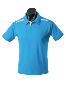 MENS PATERSON POLO STYLE 1305- Pacific Blue/White
