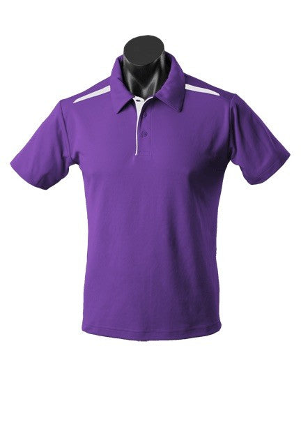 MENS PATERSON POLO STYLE 1305- Purple/White
