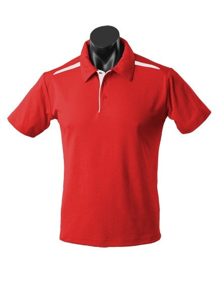 MENS PATERSON POLO STYLE 1305- Red/White