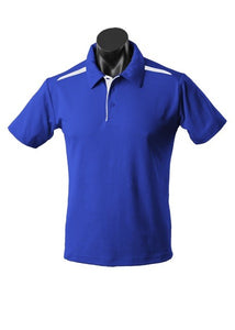 MENS PATERSON POLO STYLE 1305- Royal/White