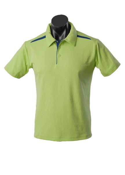 MENS PATERSON POLO STYLE 1305- Sage/Navy