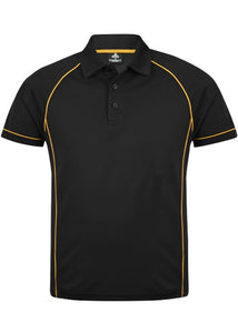 MENS ENDEAVOUR POLO STYLE 1310- Black/Gold