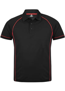 MENS ENDEAVOUR POLO STYLE 1310- Black/Red