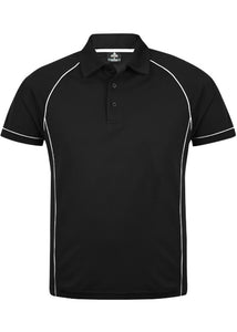 MENS ENDEAVOUR POLO STYLE 1310- Black/White