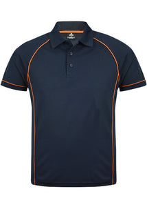 MENS ENDEAVOUR POLO STYLE 1310- Navy/Fluro Orange