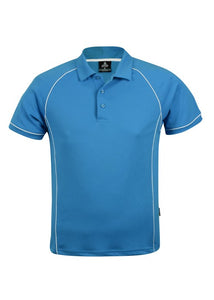 MENS ENDEAVOUR POLO STYLE 1310- Pacific Blue/White
