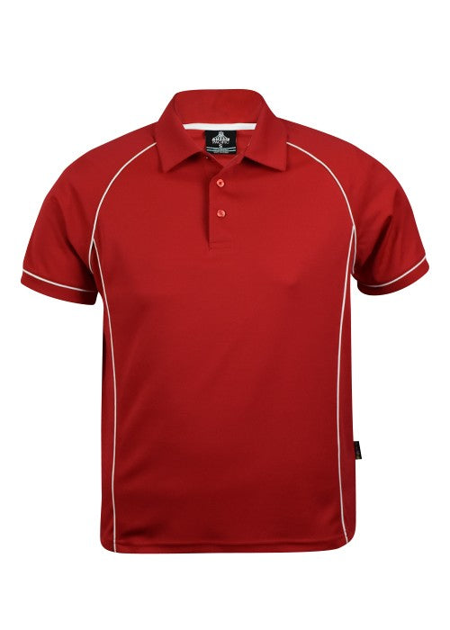 MENS ENDEAVOUR POLO STYLE 1310- Red/White