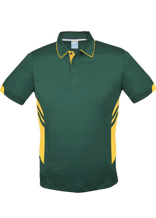 KIDS  TASMAN POLO - Bottle/Gold STYLE 3311
