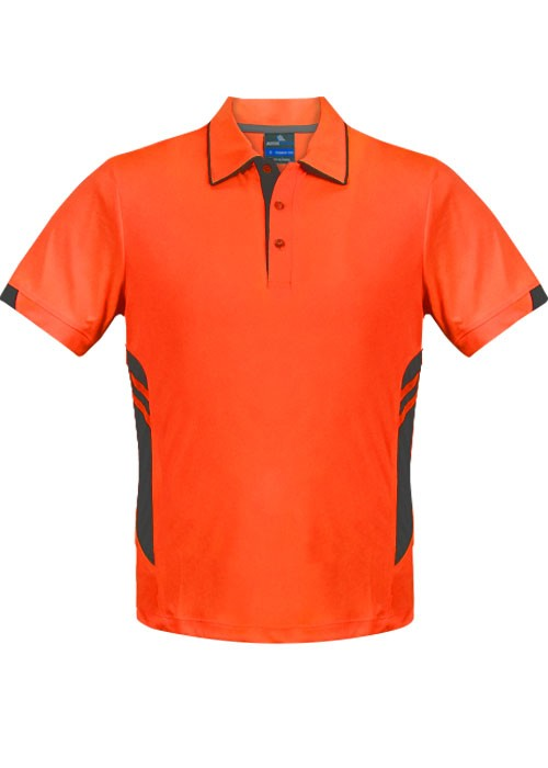 MENS TASMAN POLO - Neon Orange/Slate STYLE 1311