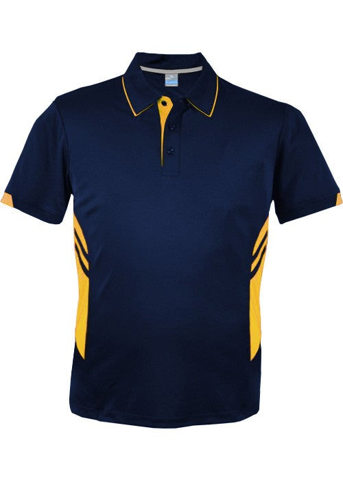 KIDS TASMAN POLO - Navy/ Gold STYLE 3311