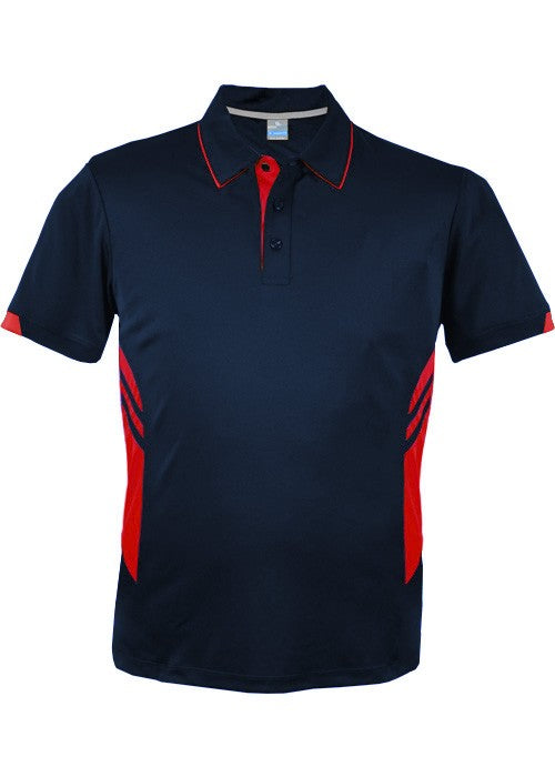 KIDS TASMAN POLO - Navy/ Red STYLE 3311