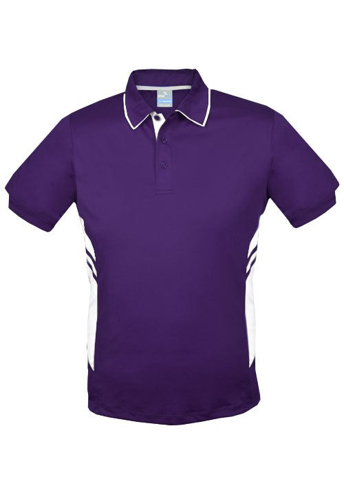 MENS TASMAN POLO - Purple/ White STYLE 1311