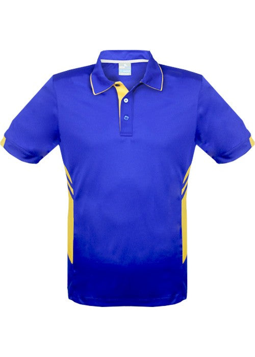 MENS TASMAN POLO - Royal/Gold STYLE 1311