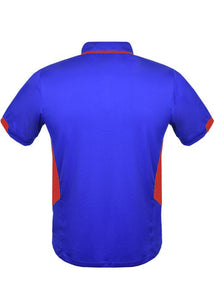 MENS TASMAN POLO - Royal/ Red STYLE 1311