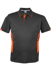 KIDS TASMAN POLO - Slate/ Neon Orange STYLE 3311