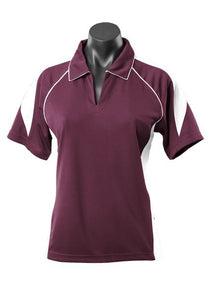 LADY PREMIER POLO STYLE 2301- Burgundy/White