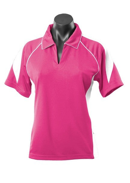 LADY PREMIER POLO STYLE 2301- Hot Pink/White