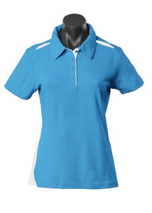 LADY PATERSON POLO STYLE 2305- Pacific Blue/White