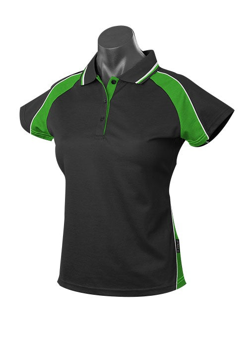 LADY PANORAMA POLO STYLE 1309- BLACK/KAWA/GREEN