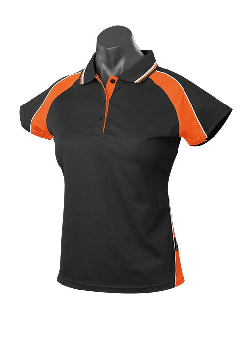 LADY PANORAMA POLO STYLE 1309- BLACK/ORANGE/WHITE