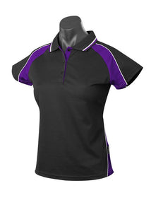 LADY PANORAMA POLO STYLE 1309- BLACK/PURPLE/WHITE
