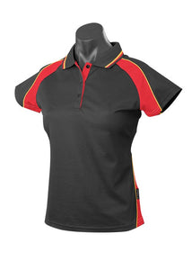 LADY PANORAMA POLO STYLE 1309- BLACK/RED/GOLD