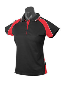 LADY PANORAMA POLO STYLE 1309- BLACK/RED/WHITE